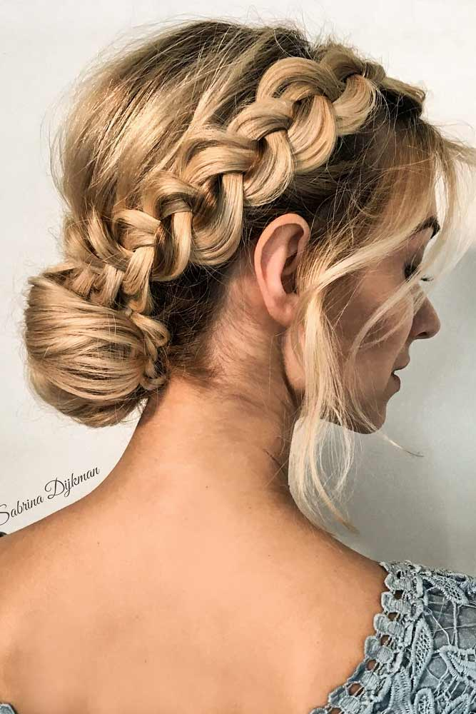 Christmas Updo Hairstyle With Braid #braid