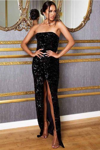 Black Maxi Sequin Dress #blackdress
