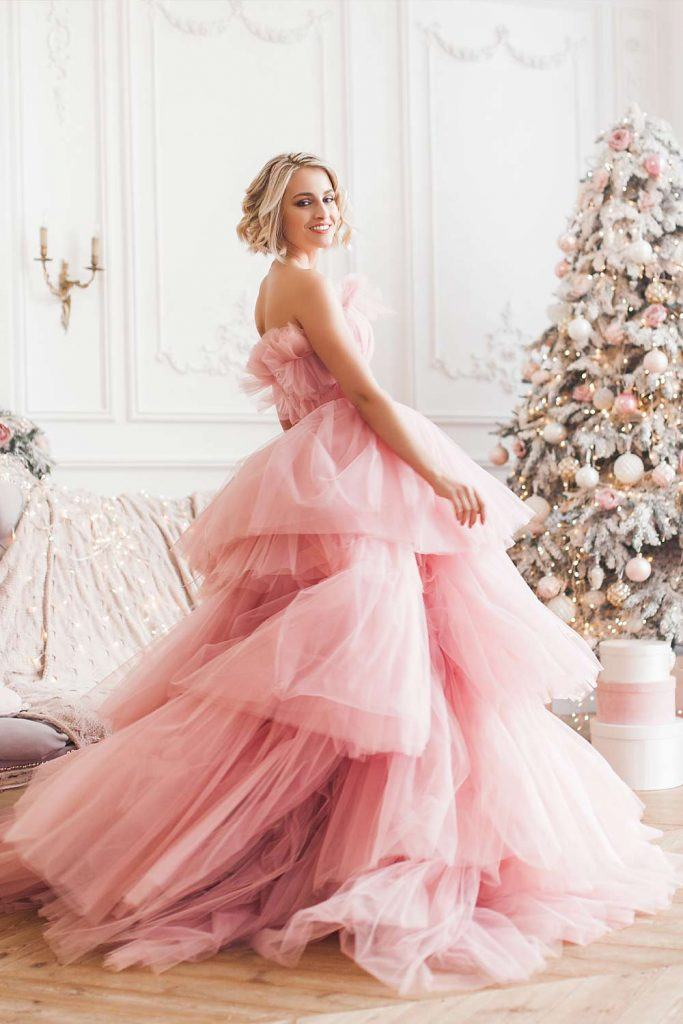 Fluffy Pink Christmas Dress