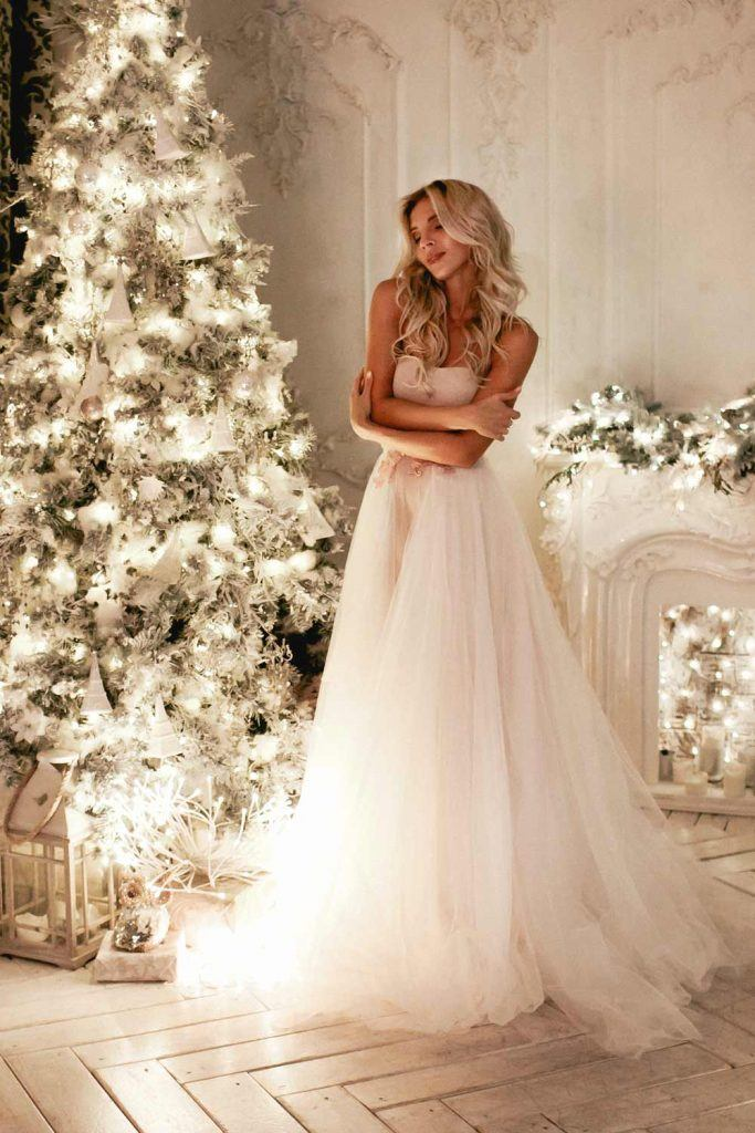 Long White Christmas Dress