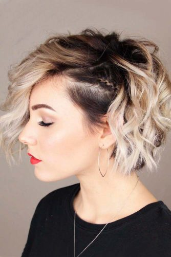 Side Braide Hairstyle #ombrehair #sidebraidhairstyle