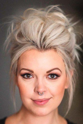 Messy Updo #messyhairstyle #updohairstyles