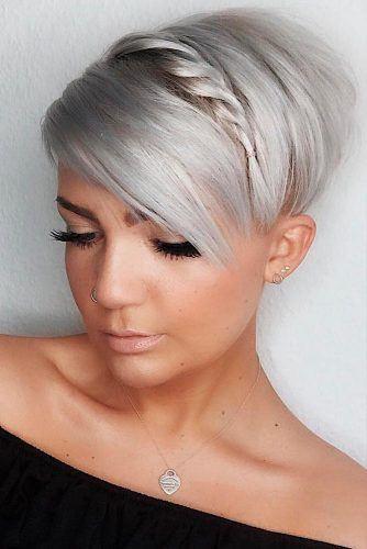Pixie Hairstyle With Braid #braids #pixiecut