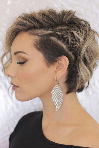 Side Braid For Short Wavy Hair #wavyhair #sidebraid