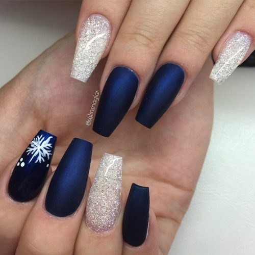Glitter Winter Nail Ideas picture 1