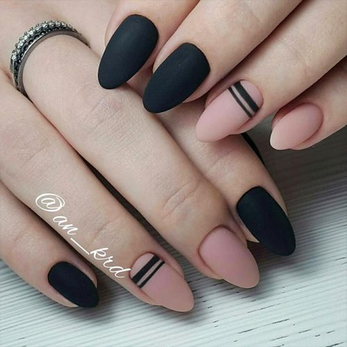 Classy Matte Nails in Dark Shades Picture 5