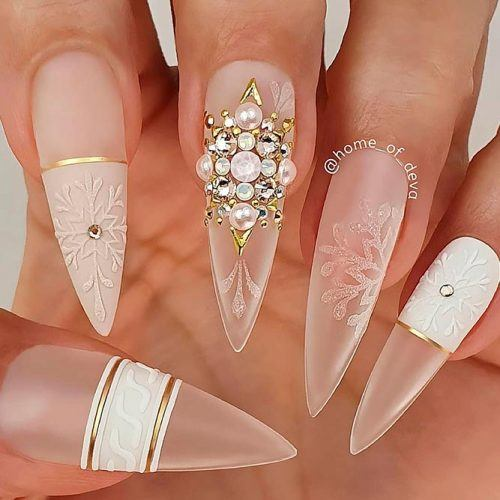 Matte Transparent Nail Design #clearnails #transparentnails