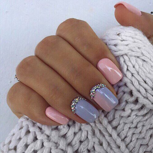 Cute Winter Nails in Pink Shades Picture 3