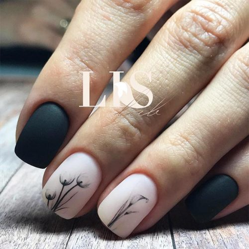 Classy Matte Nails in Dark Shades Picture 3
