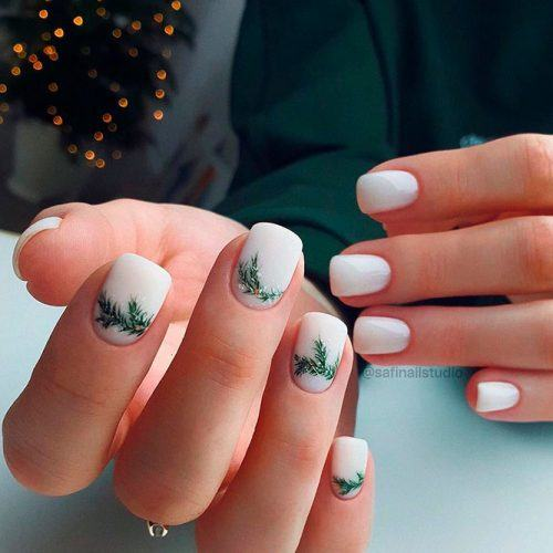 Winter Nail Design For Short Nails #shortnails #holydaysnails