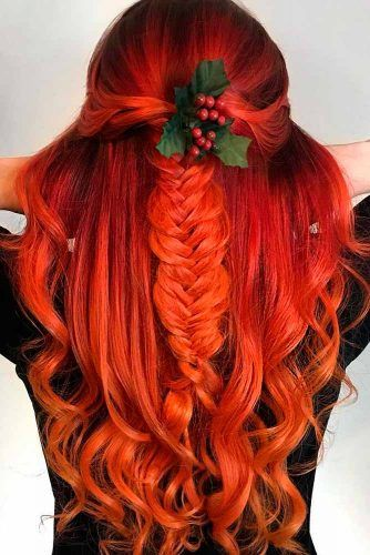Braided Half Up With Holly Berry #hollyberry #braidedhairstyle