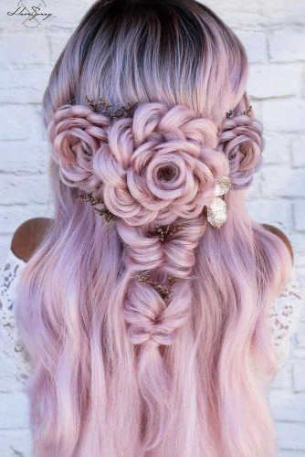 Rose Hairstyles For Christmas Party #rosehairstyle #pinkhair