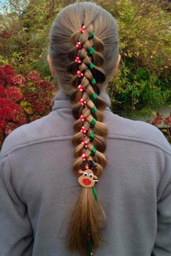 Holiday Hair With Ribbons #hairribbons #braids