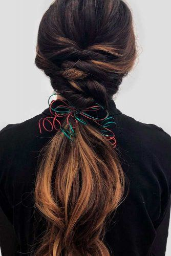 Twisted Ponytail Hairstyle #ponytail #twistedhairstyles