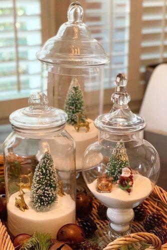Holiday Jars Centerpiece Idea #holidayjars