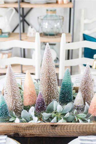 Christmas Trees Centerpiece Idea #colorfulcenterpiece