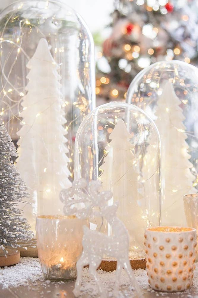 Jars With Christmas Tree Centerpiece #jarscenterpiece