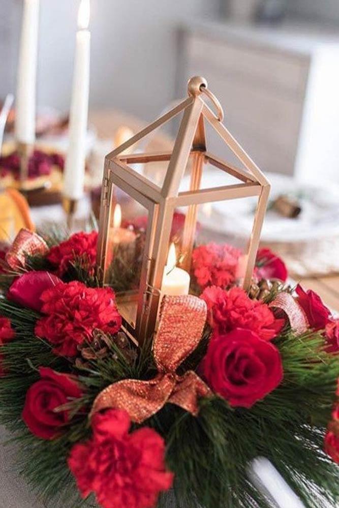 Floral Lantern Centerpiece Design #lantern