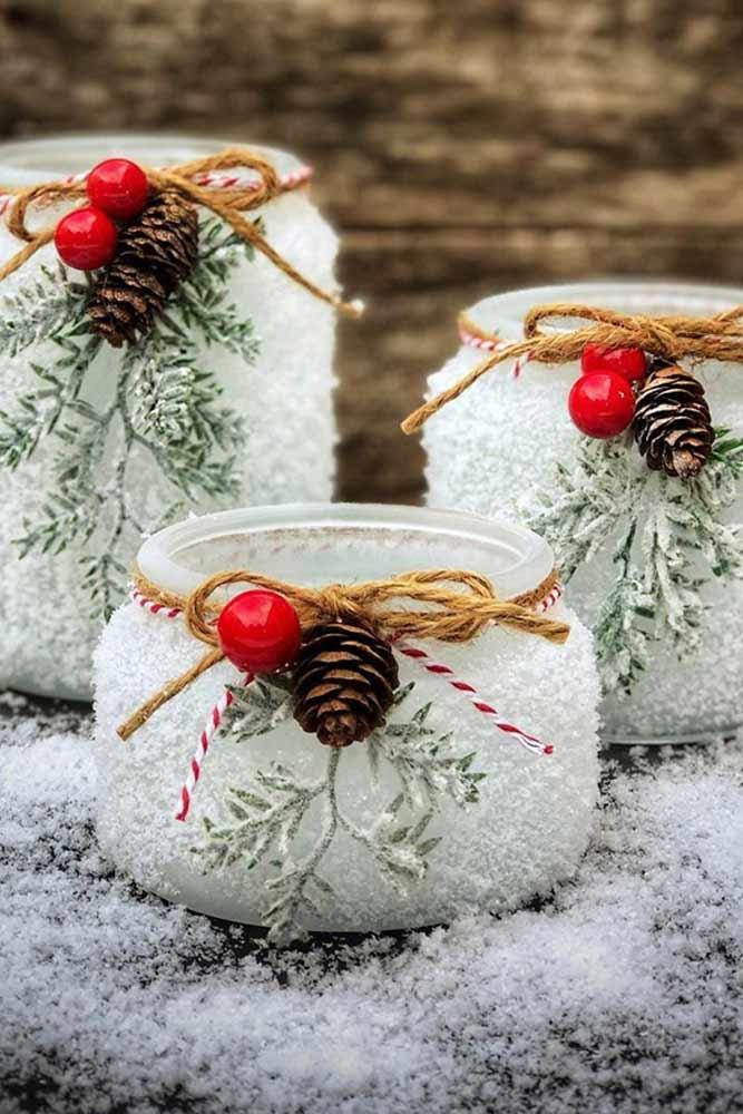 Christmas Jars Decorations #christmasjars