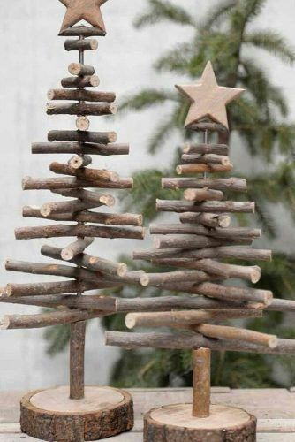 DIY Sticks Christmas Tree #woodentree