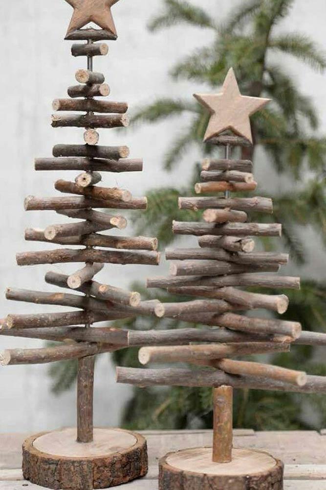 DIY Sticks Christmas Tree #woodentree