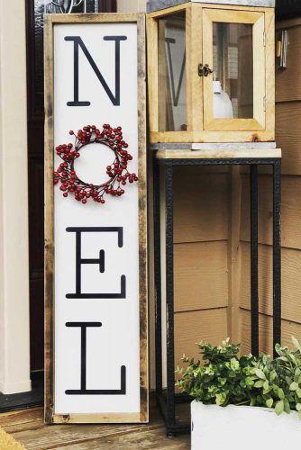 Noel Wooden Sign Design #woodensign