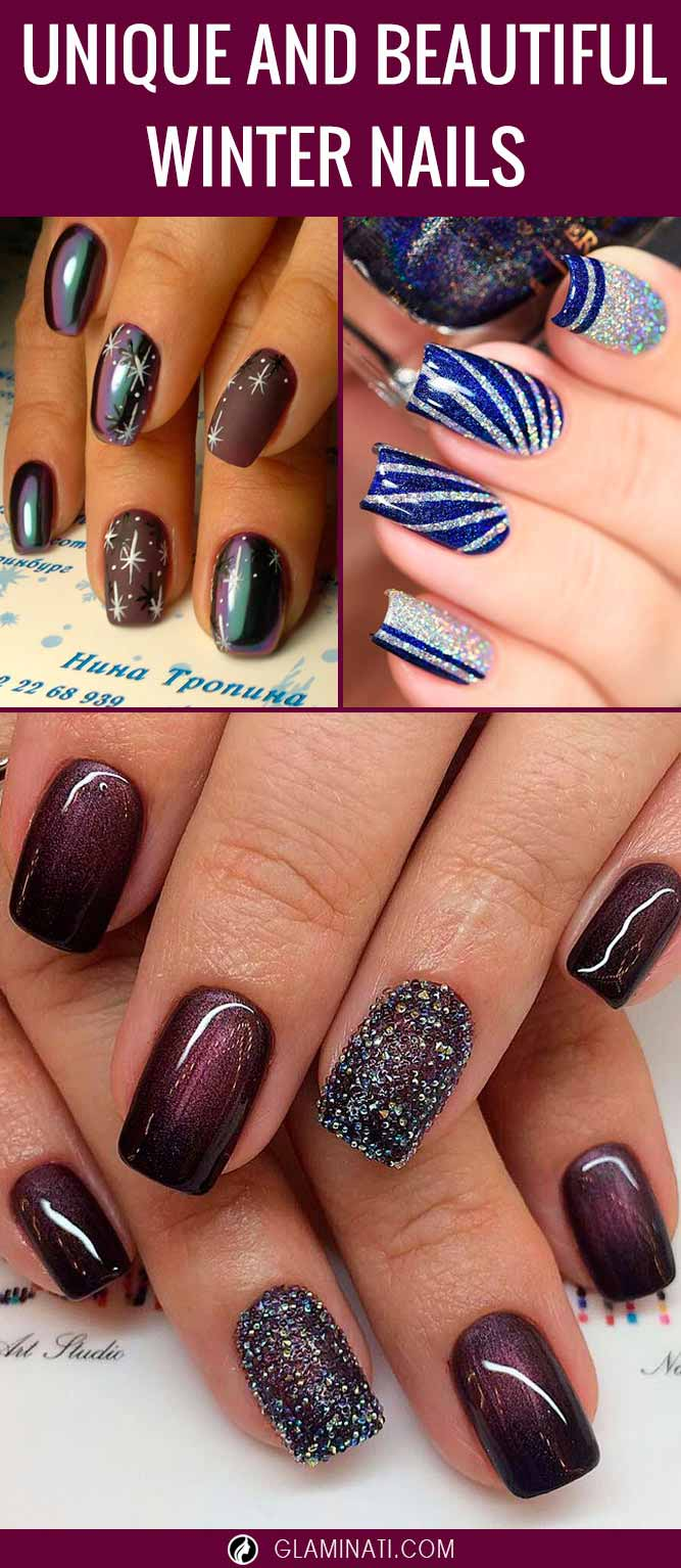Get Inspired by These Cute Winter Nail Designs
