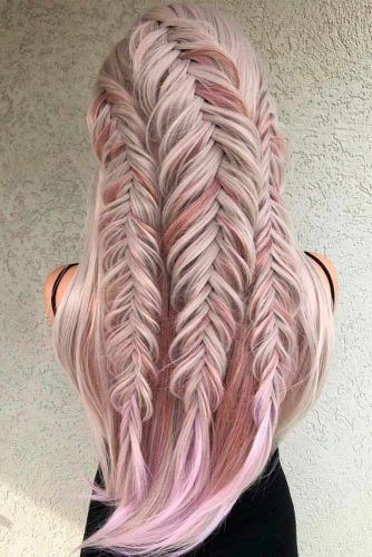 Trible Braids Half-Up #braidedhairstyles #longhairstyles