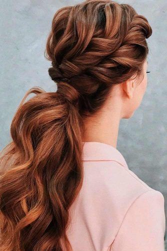Twisted Low Ponytail #twistedhairstyles #lowponytail