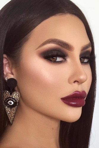 Classic Smokey With Purple Lipgloss #matteshadow