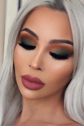 Matte Makeup Idea #smokey #mattelipstick