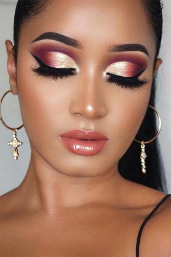 Pink Cut Crease Eyeshadow With Black Eyeliner #blackeyeliner
