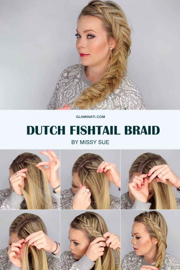 Dutch Fishtail Braid #dutchbraid #tutorial