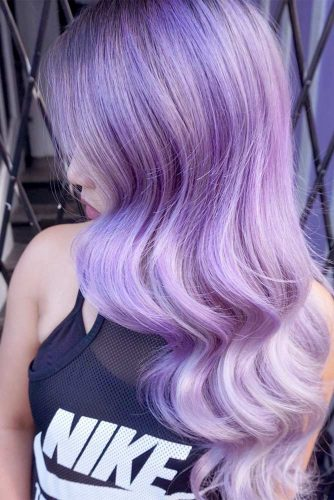 Wavy Hairstyles with Pastel Ombre Hair picture6