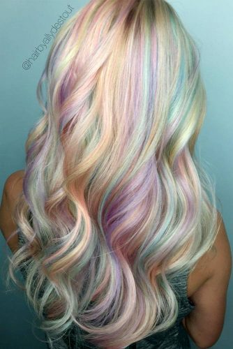 Wavy Hairstyles with Pastel Ombre Hair picture2