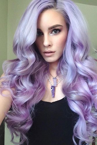 Wavy Hairstyles with Pastel Ombre Hair picture3