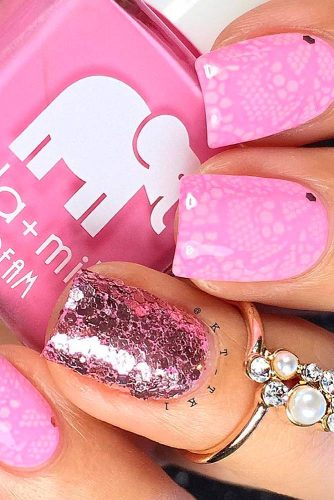 Beautiful Pink Nail Art picture 3