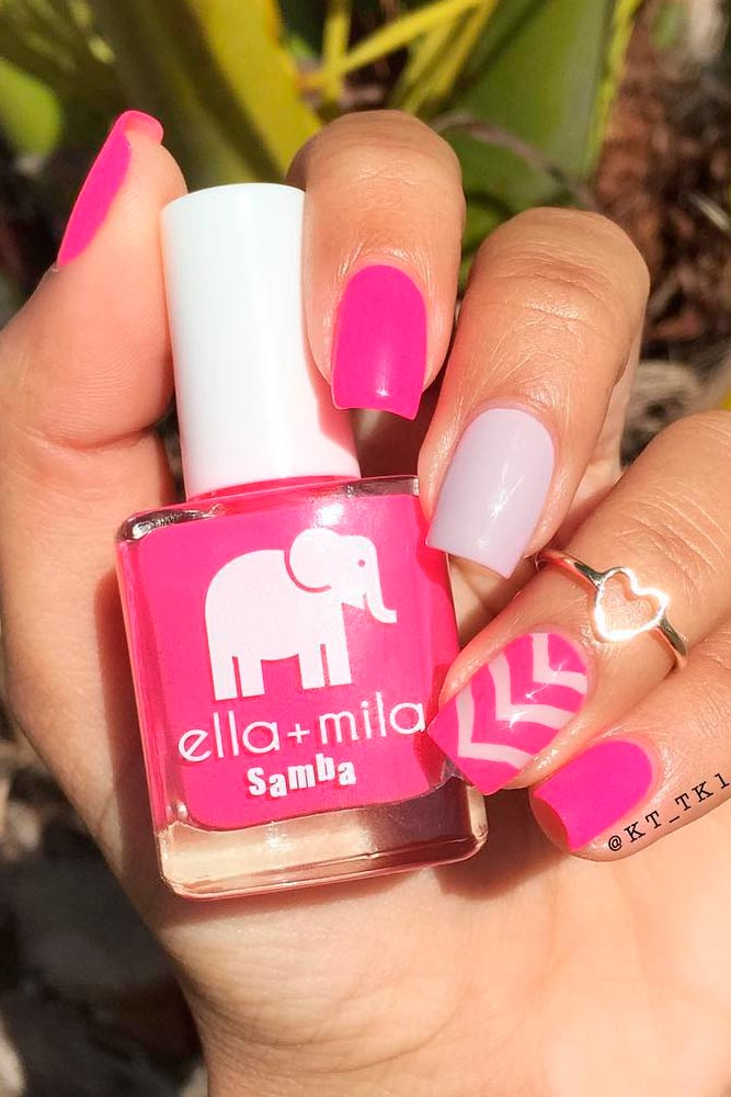 Bright Designs for Pink Nails picture 3