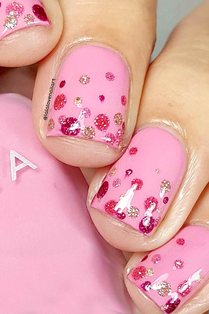 Lovely Pink Nail Art picture 2