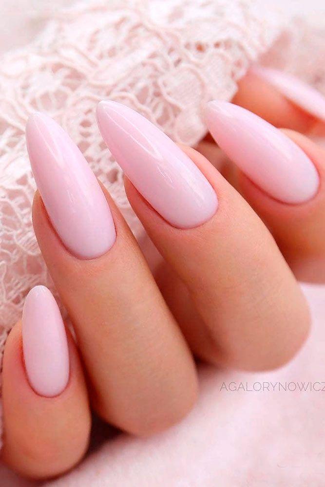 Light Pink Almond Nails #almondnails #purenails