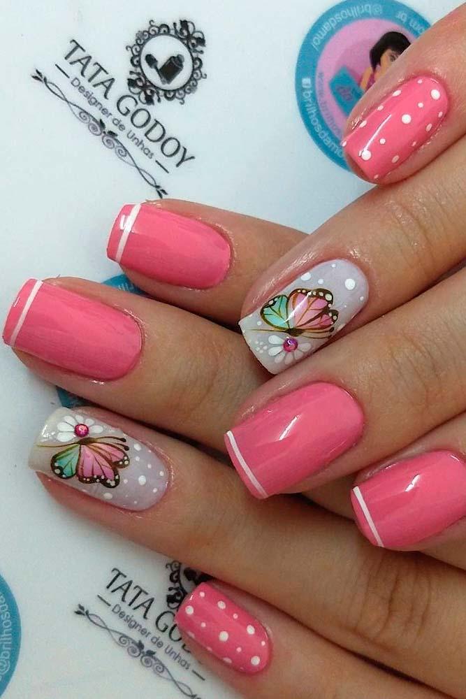 Bright Summer Nail Design #summernails