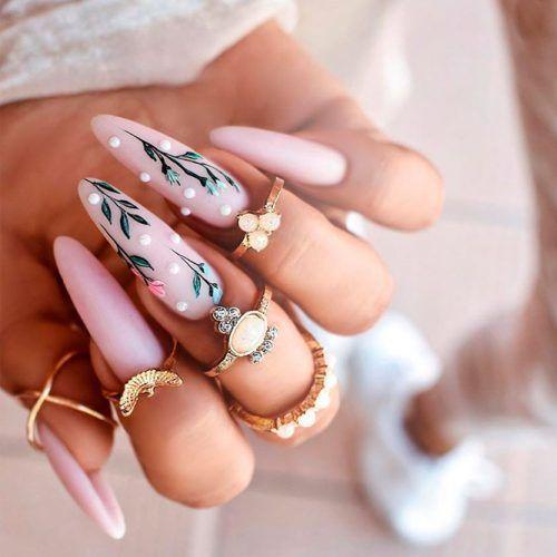Floral Nail Art Design #floralnails #longnails