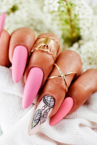 Dream Catcher Nail Art #mattenails #longnails