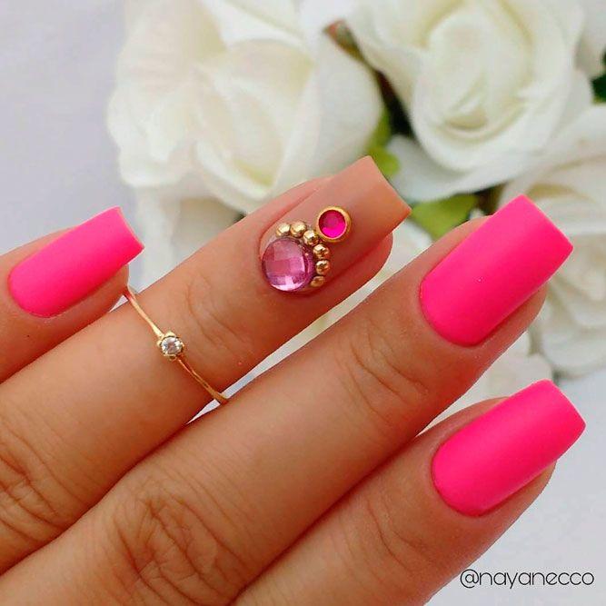 Matte Square Pink Nial #mattenails #squarenails