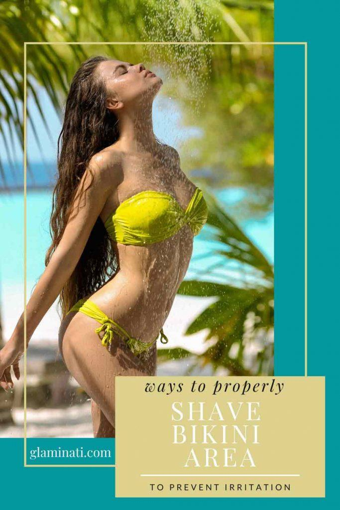 Ways To Properly Shave Bikini Area: Use A Protective Shave Gel #skinhair #summerlook