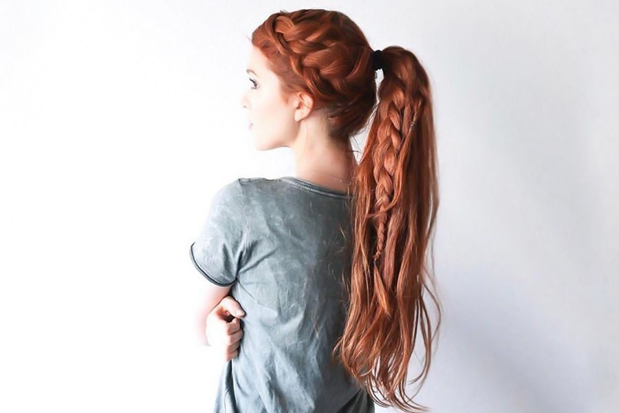 Hair How-To: Double French Braid with Ponytail