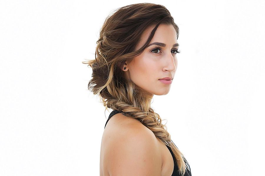 Hair How-To: Romantic Side Fishtail Braid Upstyle