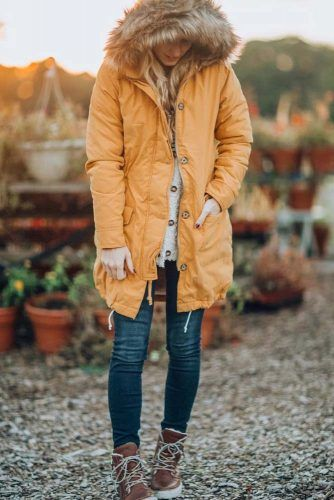 Casual Winter Outfit Idea #casual #winterboots