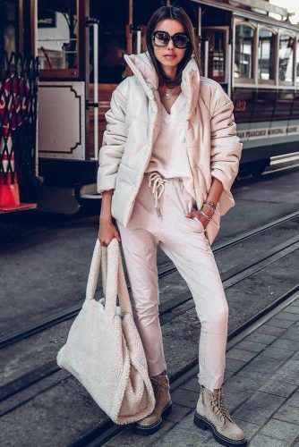 Comfy Monochromatic Winter outfit #pants #jacket