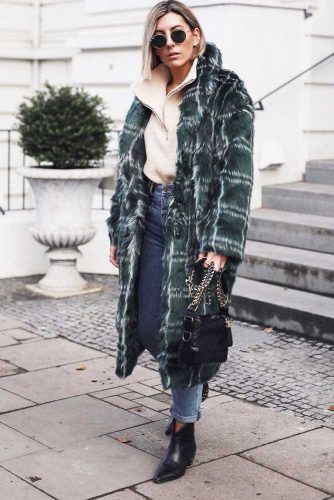 Warm Coat Winter Outfit #longcoat #sweater